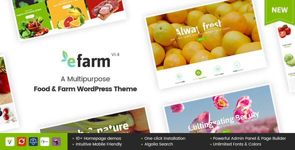 eFarm v1.5.8 – A Multipurpose Food & Farm WordPress Theme nulled