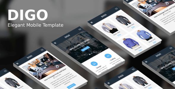 Digo v1.0 – Elegant Mobile Template