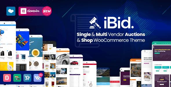 iBid v2.4 – WooCommerce Auction Store Theme