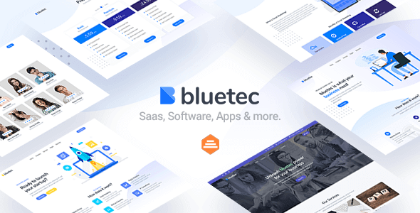 Bluetec v1.0 – Saas, IT Software, Startup and Coworking Website Template