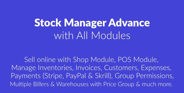 Stock Manager Advance with All Modules v3.4.40 Nulled