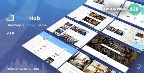 TownHub v1.1.1 – Directory & Listing WordPress Theme