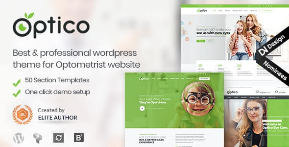 Optico v4.8 – Optometrist & Eyecare WordPress Theme