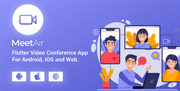 MeetAir v1.0.2 – iOS and Android Video Conference App for Live Class, Meeting, Webinar, Online Training – nulled