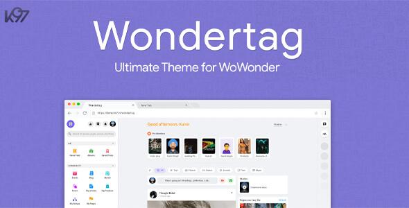 Wondertag v1.5 – The Ultimate WoWonder Theme