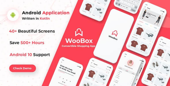 WooBox v14.0 – WooCommerce Android App E-commerce Full Mobile App + kotlin