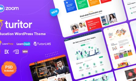 Turitor v1.2.9 - Educational LMS WordPress Theme