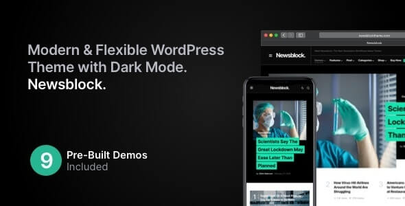 Newsblock v1.0.9 – News & Magazine WordPress Theme with Dark Mode