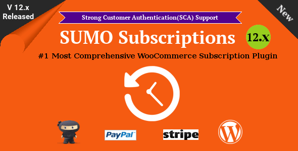 SUMO Subscriptions v12.2 – WooCommerce Subscription System