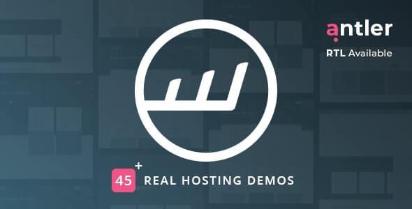 Antler v2.1.7 – Hosting Provider & WHMCS Template