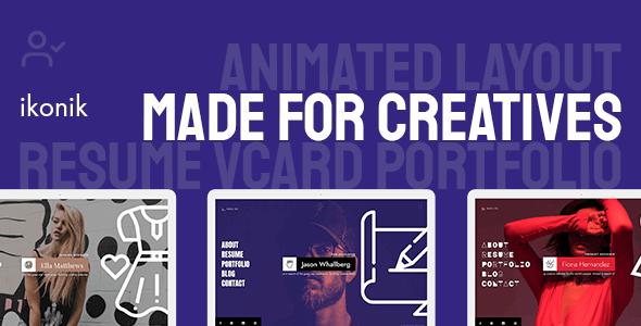 Ikonik v1.0.1 – Resume vCard WordPress Theme