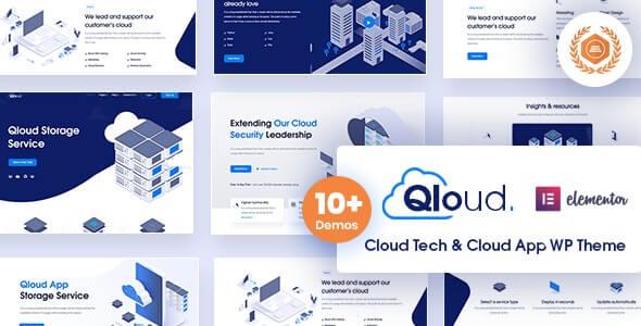 Qloud v1.8 – Cloud Computing, Apps & Server Free WordPress Theme