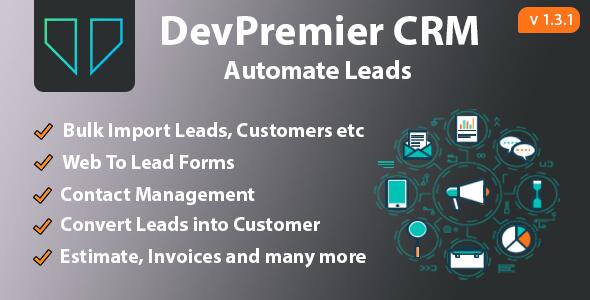 DevPremier CRM v1.3.1 – Convert Leads into Customers