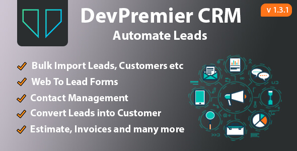 DevPremier CRM v1.3.1 – Convert Leads into Customers
