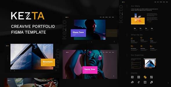 Kezta v1.0 – Creative Portfolio Figma Template