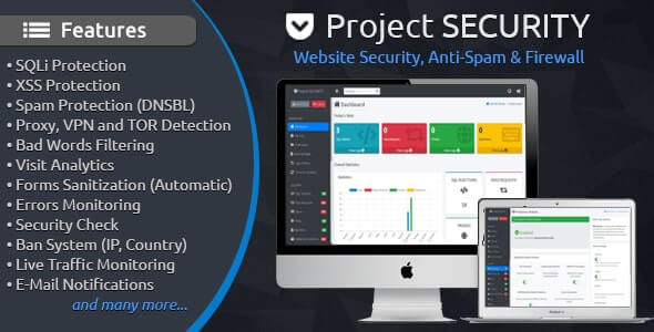 Project SECURITY v4.3 – Website Security, Anti-Spam & Firewall