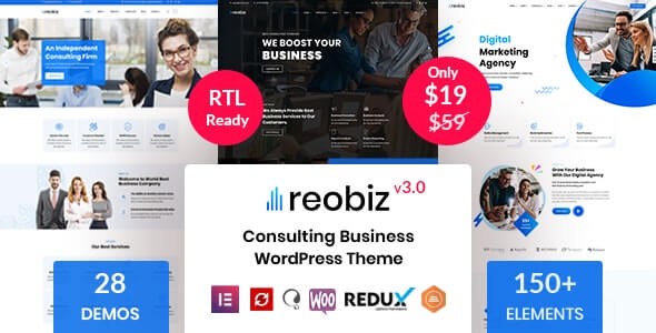 Reobiz v3.0 – Consulting Business WordPress Theme