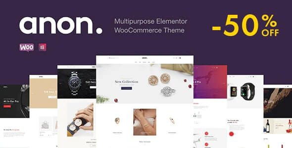 Anon v1.7.3 – Multipurpose Elementor WooCommerce Theme