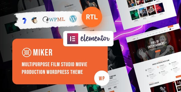 Miker v1.0 – Movie and Film Studio WordPress Theme