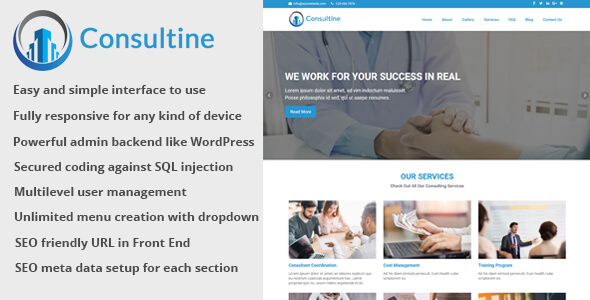 Consultine v1.6 – Consulting, Business and Finance Website CMS