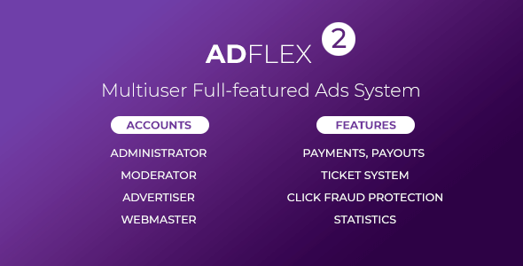 AdFlex v2.0.4 – Multi User Full-featured Ads System – nulled