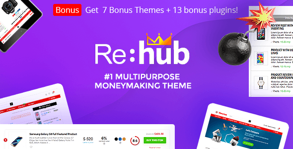 Rehub 14.8.1 Nulled – Affiliate Marketing, Multi Vendor Store